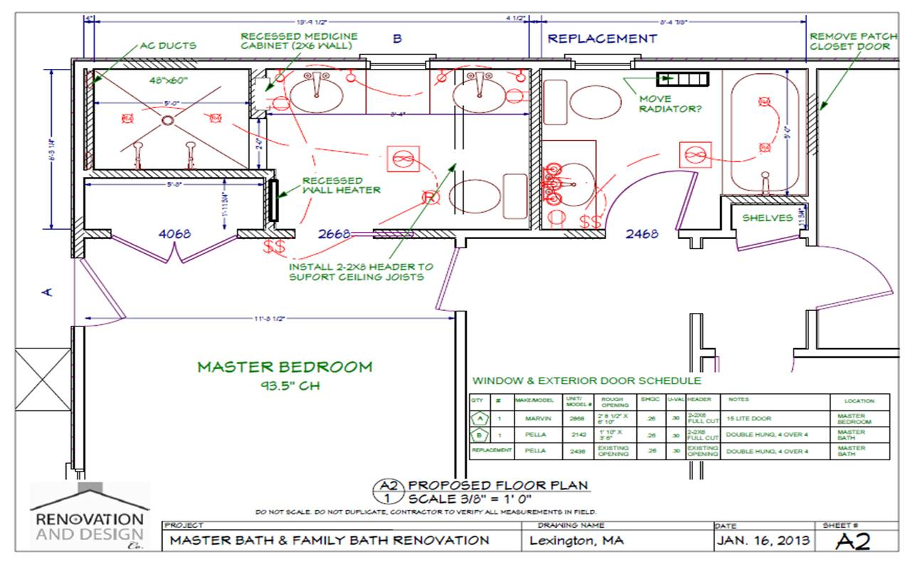 Lexington ma bathroom remodel design plan renovation for Bathroom designs plan